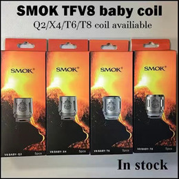 Wholesale Electronic Cigarettes Tanks - Smok TFV8 BABY Beast Tank Coils Head V8 Baby-T8 0.15ohm T6 0.2ohm X4 0.15ohm Q2 0.4ohm M2 0.15ohm 0.25ohm Core Clone Electronic Cigarettes