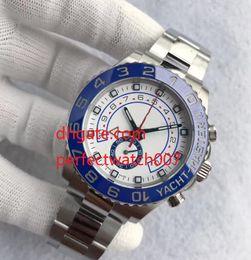 Wholesale Men Yacht - Top High qualiy Sale Mens Watch YACHT II 116680 White Dial 44mm Automatic Mechanical Ceramic Bezel Sapphire Glass Original Clasp Master Men