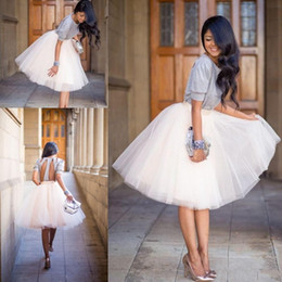 Wholesale Tutu Skirt Dress For Women - New Tutu Skirts For Women 2017 Vintage Tulle Skirts Bridesmaid Tea Length Party Skirts Dresses Petticoat faldas de tul para mujer