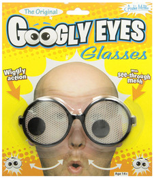 Wholesale Toy Eye Glasses - 2017 New Fun Toys GOOGLY EYES GLASSES Party Kids and Children Game Toys Wholesale price