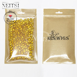Wholesale White Glue Hair Extensions - Neitsi UK Stock 400pcs Amber# Keratin Glue Tips Re bond Granules Beads High Purity Fusion Glue Keratin Fusion For Hair Extensions