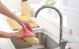 Wholesale Kitchen Pads - Magic Silicone Dish Bowl Cleaning Brushes Scouring Pad Pot Pan Wash Brushes Cleaner Kitchen