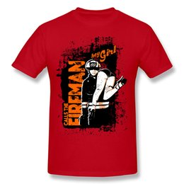 Wholesale Fireman T Shirts - New to the new printing T-shirt CALLS THE FIREMAN T-shirt summer outdoor casual shirt young and dynamic T-shirt color a lot
