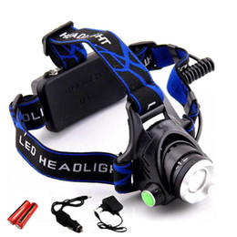 headlamp Coupons - 18650 Headlight Led Headlamp XM-L T6 Zoom Rechargeable light Waterproof 5000LM He + 18650 Battery Headlight Flashlight Lantern night fishing