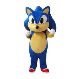 Wholesale Sonic Costume Adults - Sonic Mascot Costumes Cartoon Character Adult Sz 100% Real Picture
