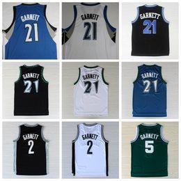 Wholesale Pure Materials - Cheap Men 21 Kevin Garnett Basketball Jerseys Uniform Throwback Kevin Garnett Jersey Rev 30 New Material Sport Shirt Vintage Pure Breathable