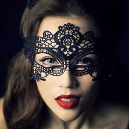 Wholesale Lace Masks For Sale - Hot sales Halloween Sexy Masquerade Masks Lace Masks Venetian Half Face Mask for Christmas Cosplay Party Night Club Ball Eye Masks MOQ:20PCS