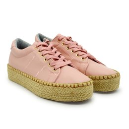 Wholesale Wholesale Cheap Girl Shoes - LH001 girl fashion casual shoes lace-up flat sneakers professional manufacture cheap women sports&outdoors straw shoes