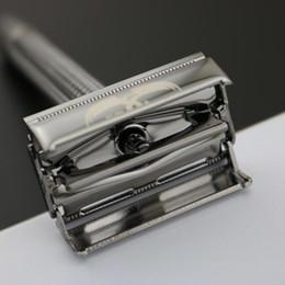 faca de barbeiro Desconto WEISHI Dupla Borda Navalha de Segurança Clássico, liga de cobre Pérola negra 9306-C Top qualidade Simples embalagem 1 PÇS / LOTE NOVA