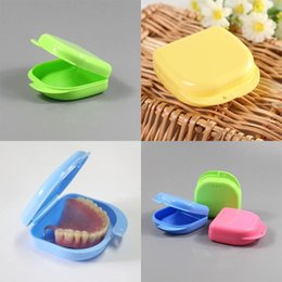 Wholesale Teeth Orthodontic - 5 colors Denture Box Container Orthodontic Retainer False Teeth Protective Dental Case Dental Supply 1000 Pcs YYA172
