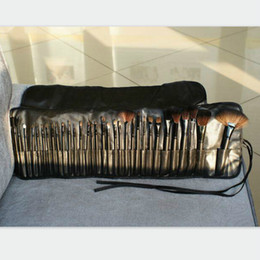 Wholesale Goat Eyes - New Hot Makeup Brush Set 32 PCS makeup brushes+ Black Pu Leather case Make up Kit