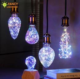 Wholesale E27 String - Led bulb Strawberry Bottle A60 rgb LED Light Bulbs e27 3w Firework led lamp string lights hot sell