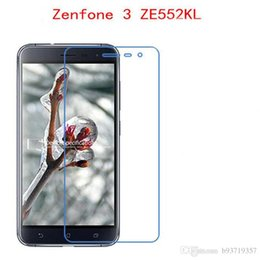 Wholesale Tempered Glass For Zenfone - For ASUS Zenfone 3 ZE552KL 5.5 phone film 9H Tempered Glass Phone Protective touch screen protector Free shipping