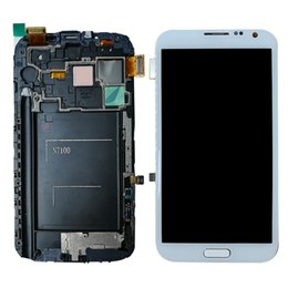 Wholesale Galaxy Note Screen Assembly - For Samsung Galaxy Note 2 N7100 N7105 Note2 LCD -- Tested Well LCD Display + Touch Screen Digitizer Assembly Tools