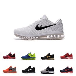 Wholesale Cheap Khaki Flat Shoes - [With Box]Cheap max 2017 Men running shoes Hot selling Original quality maxes 2017 KPU cushion sneaker for mens Newest release sneaker 40-47