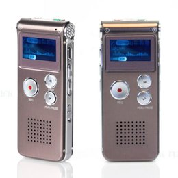 Wholesale Usb Audio Recorders Free Shipping - Wholesale-New Fashion Rechargeable 16GB LCD USB Digital Audio Voice Recorder Dictaphone MP3 Format Digital Voice Recorders Free Shipping