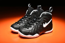 Wholesale Authentic Children - Kids Shoes Air Penny Pro Penny Hardaway Basketball Shoes youth Boots Authentic children Discount Shoes Sports Training Sneakers Size 28-35