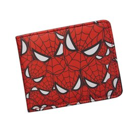 Wholesale Spiderman Trunks - Marvel DC Superhero Anime Wallet The Avengers Hero Spider-Man Wallet Cute Teenager Boy's Spider Spiderman Wallet & Purse Leather