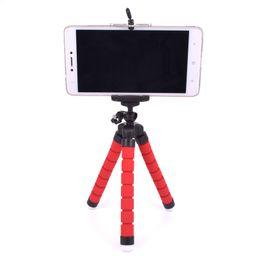 Wholesale Mini Dslr Camera - Mini Portable Flexible Tripod with Phone Holder Bracket Stand Tripod Kit for iPhone7 Xiaomi Samsung HTC Cellphone DSLR Camera