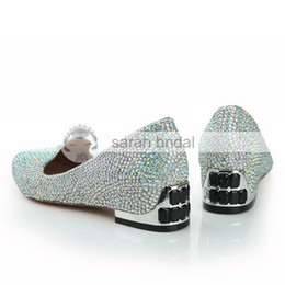 Wholesale Beaded Flat Dress Shoes - Clearbridal Women's Plat Shining Beaded Wedding Shoes Point Toe Women's Prom Party Evening Dress Wedding Bridal Shoes Multi-color