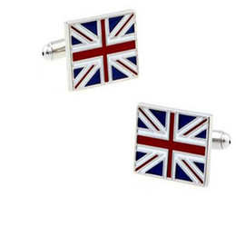 Wholesale Flag Cufflinks - Shirt Cufflinks for Men Flag Shape Jewelry Cufflinks Fun Cuff Links Trend Charm for Patty Wedding Gift DHL Free