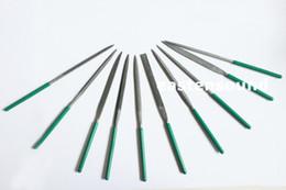 Wholesale Diamond Guitar - 10pcs 160X4mm Guitar Fret DIY Repair Tool Diamond File Needle Handle Electroplated