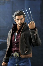 "Wholesale Doll Scale - 1 6 scale figure doll X-MAN Wolverine Hugh Jackman 12"" action figure doll Collectible figure Plastic Model Toys with box"