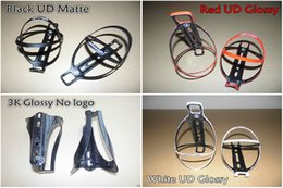 Wholesale Black Red White Bottle Cage - Free shipping Good quality Full carbon fiber Light Weight water bottle cages holders with Black White Red 3 color for choice