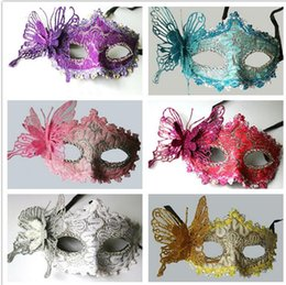 Wholesale Masks Fancy - Party masks Venetian masquerade Mask Halloween Mask Sexy Carnival Dance Mask cosplay fancy wedding gift mix color