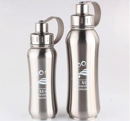 Wholesale Sport Deck - 2017 new double-deck stainless steel vacuum cup 500ml and 800ml sports outdoor bicycle water bottle kettle cup