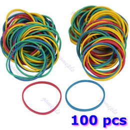 Wholesale Equipment For Tattoos - Wholesale-100PCS pack Colorful Elastic Rubber Bands For Tattoo Gun Machine Supplies tool equipment