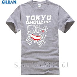 Wholesale tokyo ghoul shirts - Tokyo Ghoul Jin Muyan anime Men's T-Shirts New summer style hip hop Cotton Casual streetwear tshirt homme fitness brand clothing
