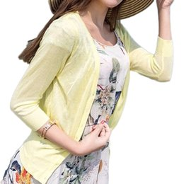 9a4faf085fa Wholesale-2016 Summer Women Thin Knitted Cardigan Sweater Femal Casual High  Quality Cardigan Slim Knitting Tops woman sweaters cardigan summer deals