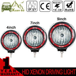 "Wholesale Hid Xenon Driving Lighting Kits - XuanBa 7 Inch 35W Hid Work Light 12-24V H3 Xenon SUV ATV Tractor Truck 4WD 4x4 Off road Light 4"" 55W Driving Lamp Spot Flood HeadLights"