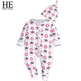 Wholesale Cow Hats - Wholesale- Hello Enjoy baby girl clothes casual autumn Unisex O-Neck long sleeve lovely cow design + hat baby boy clothes clothing set