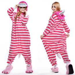 Wholesale Suits Cartoon Pajamas - Cheshire Cat Animal Costume Kigurumi Pajamas Cosplay Halloween Suits Adult Romper Cartoon Jumpsuits Unisex Animal Sleepwear