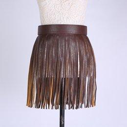 Wholesale Ballroom Skirt Long - Faux Pu Leather Wide Long Tassel Gothic Skirts Sexy Ballroom Hiphop Dj Ds Costume Saias