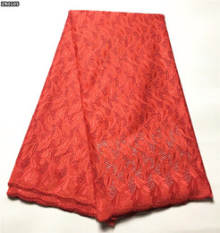 Wholesale Swiss Voile Lace Sale - Latest Embroidered swiss voile lace 2017 hot sale african swiss dry lace fabric for wedding red ZR01