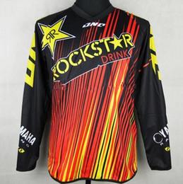 Wholesale Atv S - Free Shipping 2017 Motorcycle Rockstar Jersey ATV MXGP Motocross Motocross Dirt Bike Jersey Quick dry T-shirt