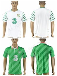 Wholesale Ireland Soccer Jersey - Ireland Soccer Jersey 2017 2018 National Team Make Customized Football Shirt Uniforms Kits Home Green Alternate White Thai Quality