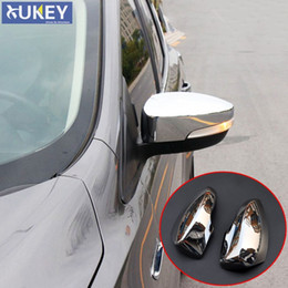 Wholesale Side Door Mirror Covers - FIT FOR FORD ESCAPE KUGA 2013 2014 2015 2016 2017 CHROME SIDE DOOR MIRROR REAR VIEW TRIM COVER CAP OVERLAY MOLDING GARNISH GUARD