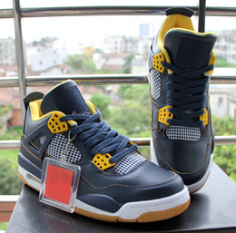 Wholesale Good Bond - Wholesale Free Shipping Air Retro 4 Dunk From Above Midnight Navy Blue Basketball Shoes Sneakers Good Quality Version Size US 8 13