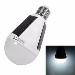 Wholesale Led Lights Daylight Bulbs - Edison2011 Hanging Solar Energy Rechargeable Emergency LED Light Bulb 7W Daylight 5500K E27 IP65 Waterproof Solar Panels Powered Night Lamp
