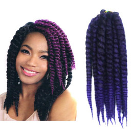Wholesale 2x 12 - Nightclub essential Women 's 12 inch black twisted braided spring braid hair African wig big braid 2X havana mambo twist