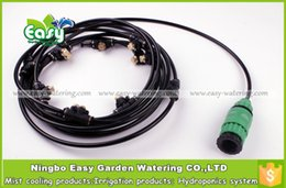 Wholesale Outdoor Cooling Misting System - outdoor 10pcs nozzles Outdoor . fog misting system, patio cooling,mist cooling system. free shipping