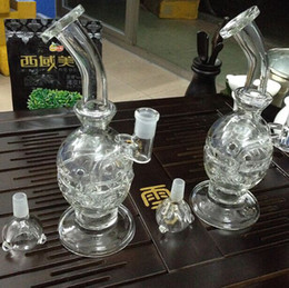 Wholesale Bowling Machines - Best recycler glass bongs water pipe smoking bong glass recycling machine oil rig with smoking bowl free shipping