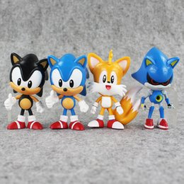 Wholesale Sonic Doll - 4Pcs Set 7~8cm The Hedgehog Sonic Tails Shadow PVC Action Figure Toy Sonic Figures Dolls Toys Great Gifts
