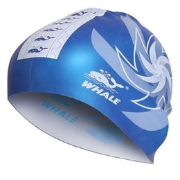 Wholesale Unisex Shower Caps - 2017 Adult Swimming Cap Surf Hat Protect Ears Swim Pool Shower Cap Unisex Swim Cap Use With Both Sides Free Shipping