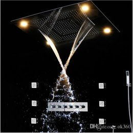 "Wholesale Mixer Led - 31"" functions Shower Set Modern Luxury European Style Large SUS304 Thermostatic Mixer Waterfall Rainfall Bathroom Led Ceiling shower head"