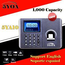 Wholesale fingerprint machines - Wholesale- Biometric Fingerprint Time Attendance Clock Recorder Employee Digital Electronic English Spanish Portuguese Voice Reader Machine